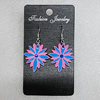 Ceramics Earring, Flower 29x26mm, Sold by Group