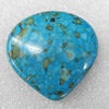 Turquoise Pendant,40x38mm, Hole:Approx 1mm, Sold by PC