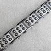 Stainless Steel Bracelet, wideth:15mm, Sold per 7.8-inch Strand