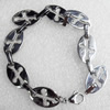 Stainless Steel Bracelet, wideth:14mm, Sold per 7.8-inch Strand