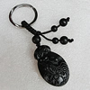 Olive Shell Key Chain, Bead size:41x25mm, Length Approx:9cm, Sold by Strand