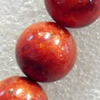 Grass Corals Beads Natural, Round, 6mm, Hole:Approx 1mm, Sold per 15.7-inch Strand