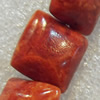 Grass Corals Beads Natural, Square, 15mm, Hole:Approx 1mm, Sold by KG