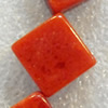 Grass Corals Beads Natural, Diamond, 18mm, Hole:Approx 1mm, Sold by KG