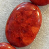 Grass Corals Beads Natural, Flat Oval, 25x35mm, Hole:Approx 1mm, Sold by KG