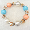 Shell Bracelet, width:14mm, Length Approx:7.1-inch, Sold by Strand
