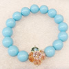 Shell Bracelet, width:12mm, Length Approx:7.1-inch, Sold by Strand