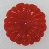Handmade Lampwork Flower, 32mm Hole:1.5mm, Sold by PC