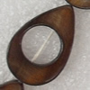 Shell Beads, Teardrop, 17x26mm, Hole:Approx 1mm, Sold per 16-inch Strand