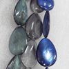 Shell Beads, Teardrop, Mix Colour, 20x28mm, Hole:Approx 1mm, Length:16-inch, Sold by Group