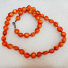 Coral Necklace, width:9mm, Length Approx:17.7-inch, Sold by Strand