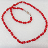 Coral Necklace, width:5mm, Length Approx:17.7-inch, Sold by Strand