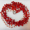 Coral Necklace, width:15mm, Length Approx:17.7-inch, Sold by Strand