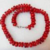 Coral Necklace, width:10mm, Length Approx:17.7-inch, Sold by Strand