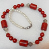 Coral Necklace, width:14mm, Length Approx:17.7-inch, Sold by Strand