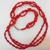 Coral Necklace, width:8mm, Length Approx:17.7-inch, Sold by Strand