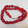 Coral Necklace, width:12mm, Length Approx:17.7-inch, Sold by Strand