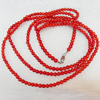 Coral Necklace, width:6mm, Length Approx:31.5-inch, Sold by Strand
