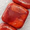 Grass Corals Beads Natural, Twist Flat Oval, 14x19mm, Hole:Approx 1mm, Sold by KG