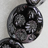 Ceramics Beads Plated AB, 31x28mm Hole:3mm, Sold by Bag