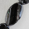 Ceramics Beads Plated AB, Twist Flat Oval 42x25mm Hole:3mm, Sold by Bag