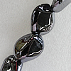 Ceramics Beads Plated AB, Nugget 26x20mm Hole:3mm, Sold by PC