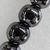 Ceramics Beads Plated AB, Round 14mm Hole:2mm, Sold by Bag