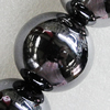 Ceramics Beads Plated AB, Round 30mm Hole:5mm, Sold by Bag