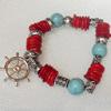 Corals Bracelet, width:14mm, Length:Approx 7.1-inch, Sold by Dozen