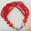 Corals Bracelet, width:10mm, Length:Approx 7.1-inch, Sold by Dozen