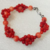 Corals Bracelet, width:18mm, Length:Approx 7.1-inch, Sold by Dozen