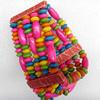 Wooden Bracelet, width:39mm, Length:Approx 7.1-inch, Sold by Dozen