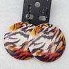 Wooden Earring, Flat Round, 40x55mm, Sold by Dozen
