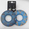 Wooden Earring, Donut, 60x76mm, Sold by Dozen