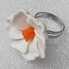Fimo Rings, Flower 27mm, Sold by Group
