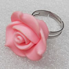 Fimo Rings, Flower 24mm, Sold by Group