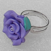 Fimo Rings, Flower 21mm, Sold by Group