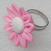 Fimo Rings, Flower 30mm, Sold by Group