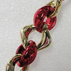 CCB Jewelry Chains, Link's Size:24x8mm-20x18x9mm, Sold by Meter