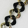 CCB & Acrylic Chains, Link's Size:24x7mm, Sold by Meter