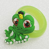 Plastic Rings, Frog 29x19mm, Sold by PC