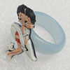 Plastic Rings, Girl 32x21mm, Sold by PC