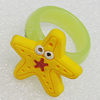 Plastic Rings, Star 25mm, Sold by PC