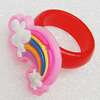 Plastic Rings, Rainbow 29x16mm, Sold by PC