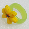 Plastic Rings, Flower 22mm, Sold by PC