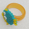 Plastic Rings, Fish 23x20mm, Sold by PC