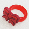 Plastic Rings, Bowknot 21x18mm, Sold by PC