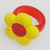 Plastic Rings, Flower 25mm, Sold by PC