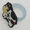 Plastic Rings, Cow 29x24mm, Sold by PC