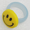 Plastic Rings, Flat Round 19mm, Sold by PC